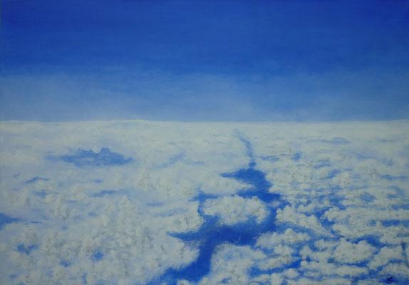 Über den Wolken II, 70x100 cm, Acryl auf Leinwand