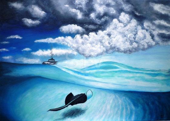 (*) Karibik Traum, 50x70 cm, Acryl auf Leinwand