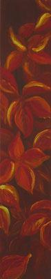 Herbstblätter I, 80x15 cm, Acryl auf Leinwand