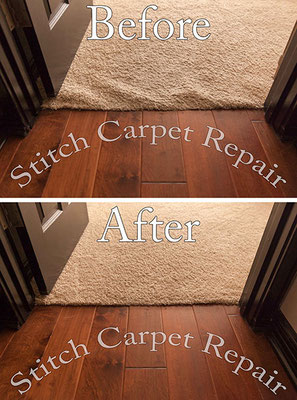 Carpet stretching up to wood floor Austin Round Rock Cedar Park Manor Bee Cave San Marcos