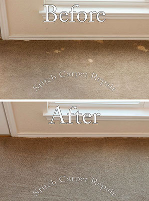 Carpet repair bleach stain patch Austin Round Rock Cedar Park Manor Bee Cave San Marcos