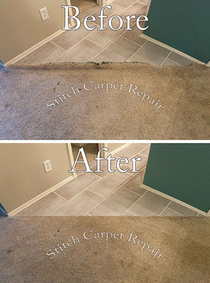 Carpet transition because of new tile installation Austin Round Rock Cedar Park Manor Bee Cave San Marcos