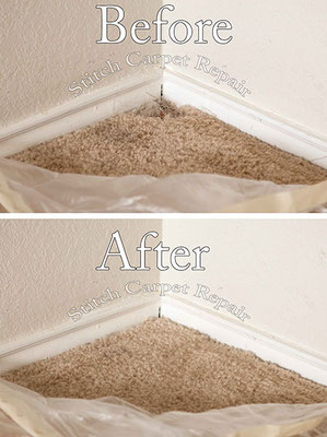 Carpet patch pet damage in the corner of a room Austin Round Rock Cedar Park Manor Bee Cave San Marcos