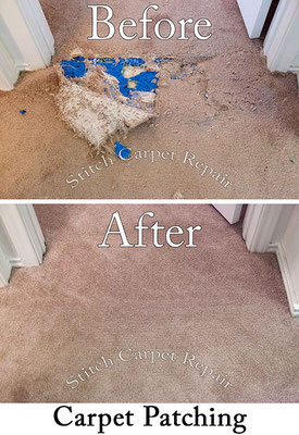 Large carpet patch do to pet damage Austin Round Rock Cedar Park Manor Bee Cave San Marcos