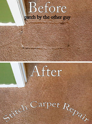 Bad carpet patch that was done by a carpet cleaner that I repaired the right way Austin