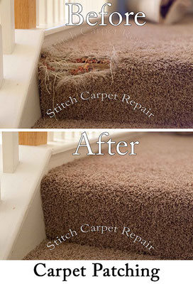 Carpet patch repair on the staircase Austin Round Rock Cedar Park Manor Bee Cave San Marcos