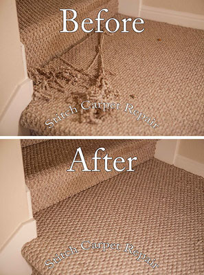 Carpet repair on the landing Austin Round Rock Cedar Park Manor Bee Cave San Marcos