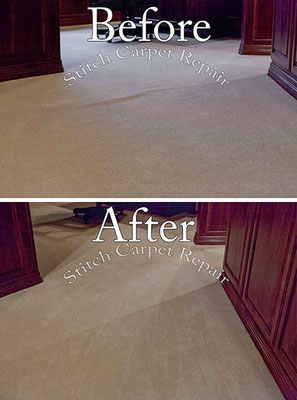 Carpet stretching in the den home office Austin Round Rock Cedar Park Manor Bee Cave San Marcos