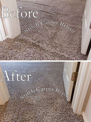 Carpet stretching in a bedroom and doorway Austin Round Rock Cedar Park Manor Bee Cave San Marcos