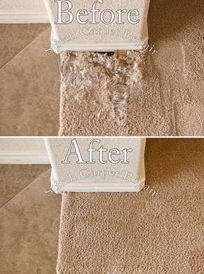 Carpet patch do to pet damage in dining room Austin Round Rock Cedar Park Manor Bee Cave San Marcos