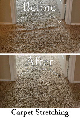 Carpet stretching in the hallway in front of the bedroom Austin Round Rock Cedar Park