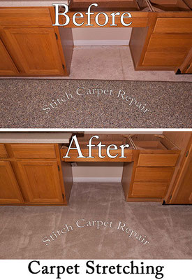 Stretched the carpet up to the cabinets Austin Round Rock Cedar Park