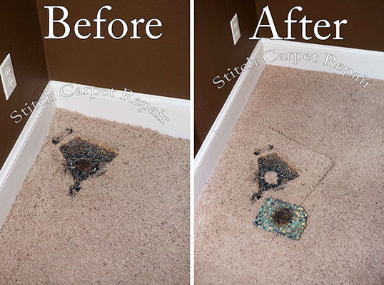 Carpet patch lamp burn repair Austin Round Rock Cedar Park Manor Bee Cave San Marcos