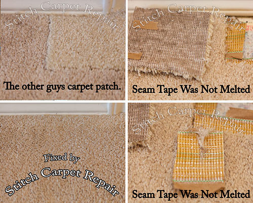 Repair the other guys  bad carpet repairs Austin Round Rock Cedar Park Manor Bee Cave San Marcos
