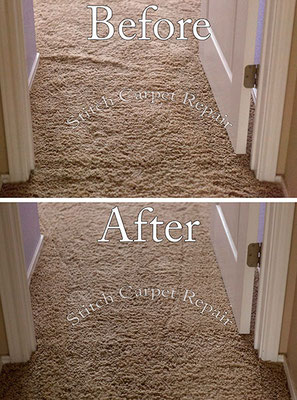 Carpet stretch in a bedroom Austin Round Rock Cedar Park Manor Bee Cave San Marcos