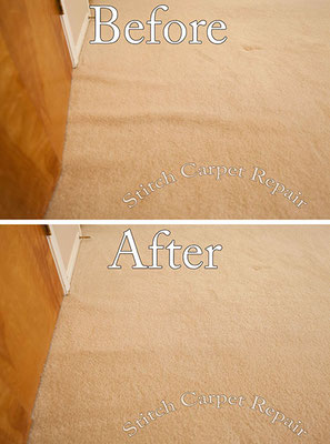 Carpet stretching front of door in a bedroom Austin Round Rock Cedar Park Manor Bee Cave San Marcos