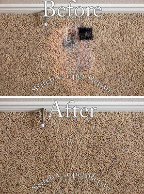 Bleach stain patch carpet repair Austin Round Rock Cedar Park Manor Bee Cave San Marcos