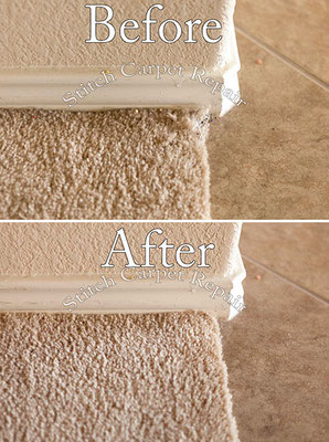 Small carpet patch cat pet damage in front kitchen transition Austin Round Rock Cedar Park Manor Bee Cave San Marcos