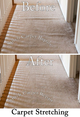 Carpet stretching in a hallway Austin Round Rock Cedar Park Manor Bee Cave San Marcos