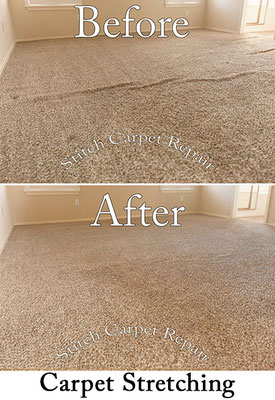 Carpet stretching a living room Austin Round Rock Cedar Park Manor Bee Cave San Marcos