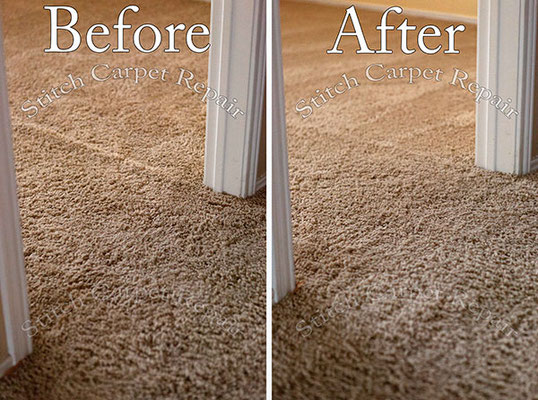 Carpet stretching in a bedroom Austin Round Rock Cedar Park Manor Bee Cave San Marcos