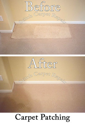 Carpet patch repair hole from built-in desk Austin Round Rock Cedar Park Manor Bee Cave San Marcos