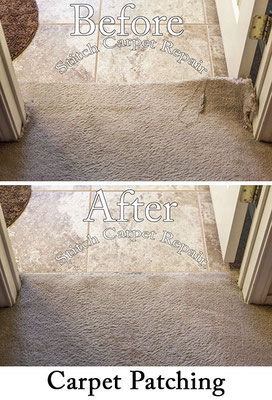 Carpet transition repair because of new tile installation Austin Round Rock Cedar