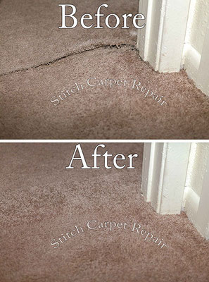 Carpet patch do to carpet delamination Austin Round Rock Cedar Park Manor Bee Cave San Marcos