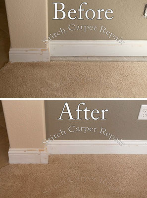 Carpet patch repair hole from moved wall Austin Round Rock Cedar Park Manor Bee Cave San Marcos