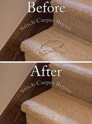Berber carpet repair on a staircase Austin Round Rock Cedar Park Manor Bee Cave San Marcos