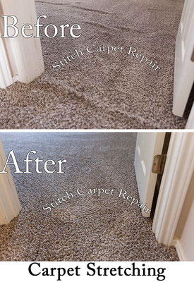 Carpet stretching in a bedroom and doorway Austin Round Rock Cedar Park