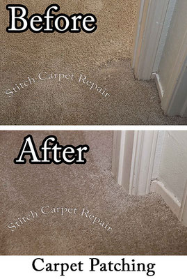 Carpet repair dog pet damage patch in bedroom Austin Round Rock Cedar Park