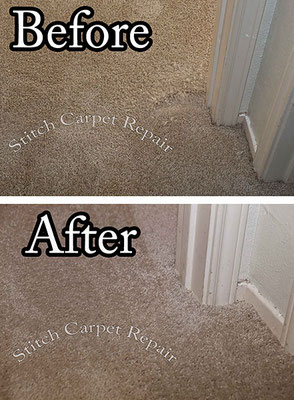 Carpet repair dog pet damage patch in bedroom Austin Round Rock Cedar Park Manor Bee Cave San Marcos