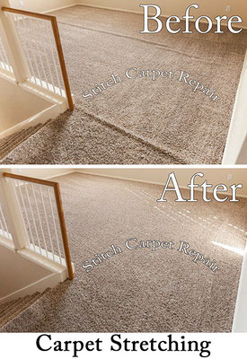 Carpet stretch between a hallway and loft Austin Round Rock Cedar Park