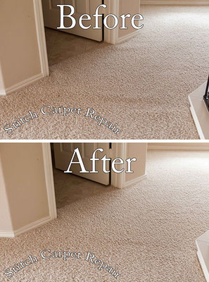 Carpet stretching in a loft and hallway Austin Round Rock Cedar Park Manor Bee Cave San Marcos