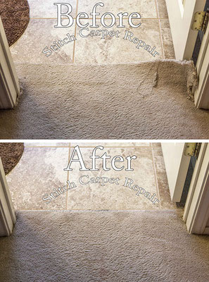 Carpet transition repair because of new tile installation Austin Round Rock Cedar Park Manor Bee Cave San Marcos