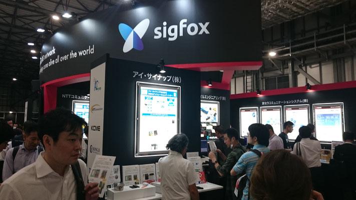 通信放送Week SigFoxブース写真