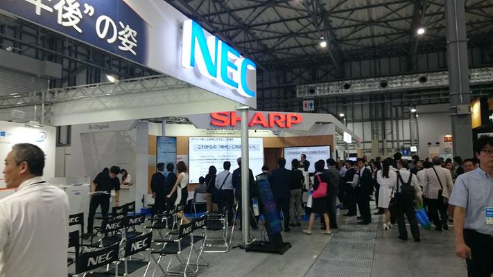 NEC、シャープブース