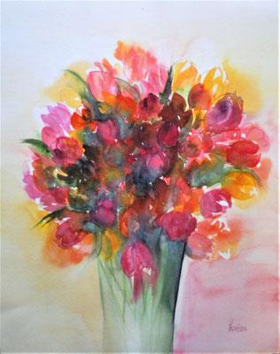 Vase de tulipes 40 x 51 nicht eingerahmt CHF 300