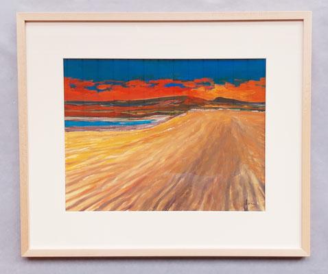 Dune, 50 x 60 Gouache auf Papier - eingerahmt/encadré CHF 500