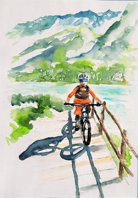 mountain bike 35 x 50 nicht eingerahmt/ohne Passepartout CHF 250