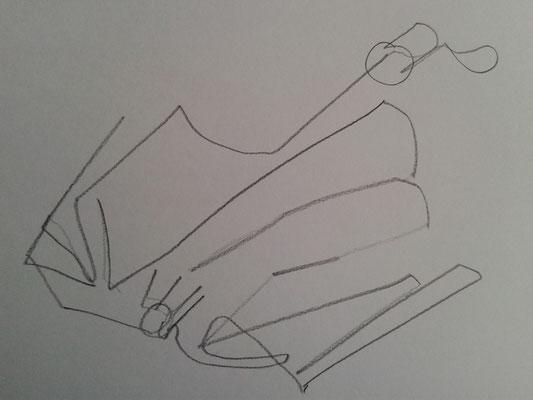 Blindzeichung aus Bleistift