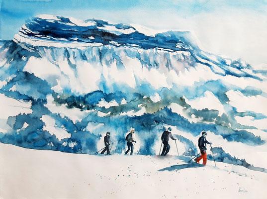 Randonnée hivernale 42 x 56 - nicht eingerahmt/ohne Passepartout CHF 300