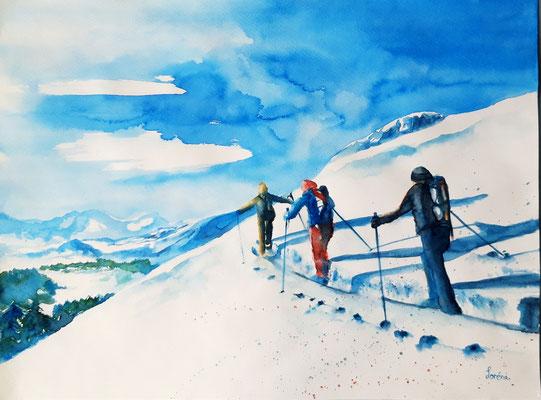 Tour à ski 2 /42 x 56 - nicht eingerahmt/ohne Passepartout CHF 300