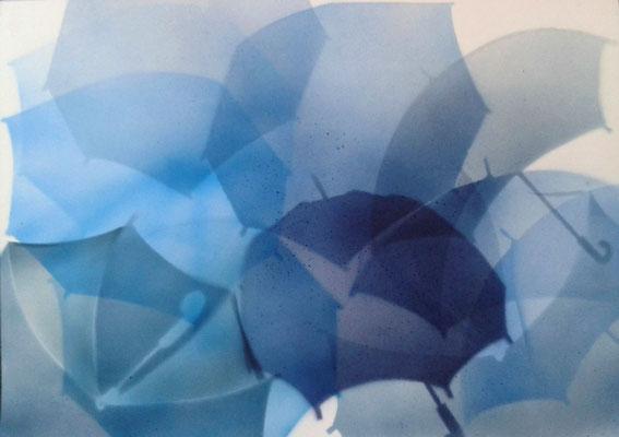 Airbrush mit Schablone