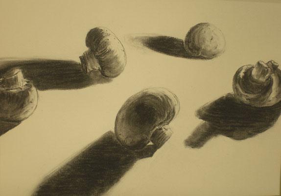 Champignons aus Kohle
