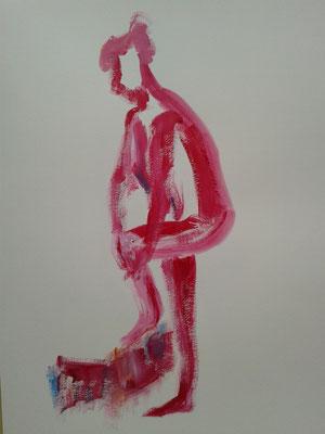 Schnelle Acryl-Skizze nach Model