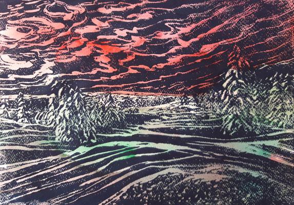 Landschaft 15 Aquarellpapier