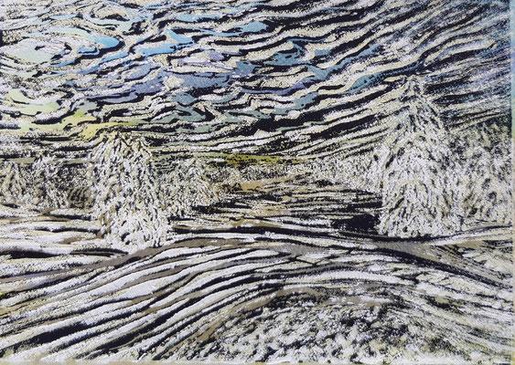 Landschaft 18 Aquarellpapier