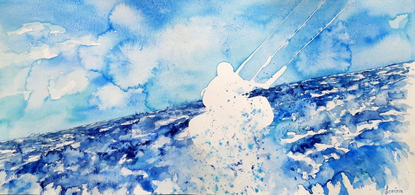 kite surfer 2 /25 x 50 nicht eingerahmt/ohne Passepartout CHF 250
